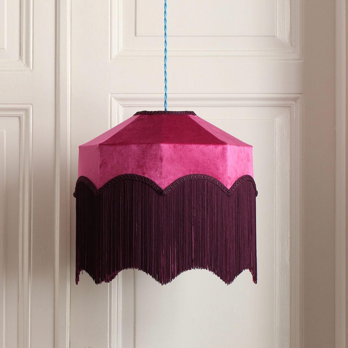 Sabrina - lampskärm i sammet